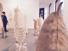 Wooden skeleton made by a sculptor Ilkka Virtanen. The picture is from his exhibition in www.taidegraafikot.fi.