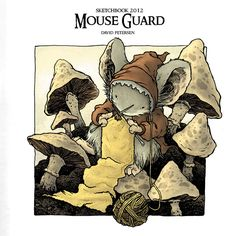 Mouse Guard drawing by David Petersen