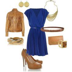 #accesorios#vestido#azul#rey