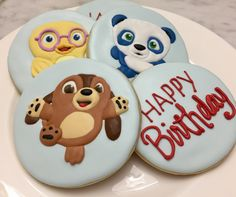Ruff-Ruff, Dave & Tweet birthday sugar cookies by Edith Flores