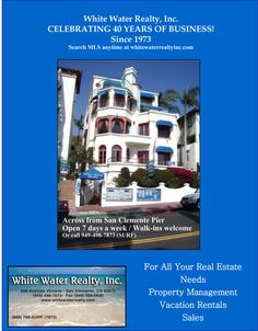 White Water #Realty in #sanclemente - Celebrating 40 Years of Business!