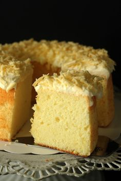 Parmesan chiffon cake – light and airy chiffon cake with a tint of Parmesan cheese, and topped with shredded Parmesan. Amazing recipe that you have to try   rasamalaysia.com