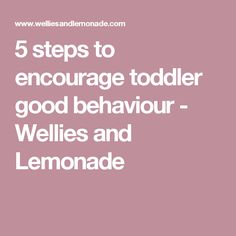 5 steps to encourage toddler good behaviour - Wellies and Lemonade