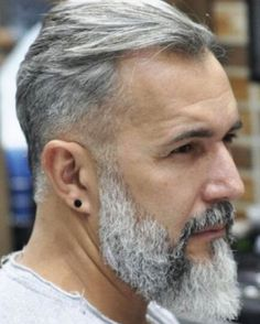 gray hair and beard images at DuckDuckGo Thin Beard, Beard Cuts, Sexy Beard, Beard Styles For Men, Hair And Beard Styles, Beard Images, Beard Head, Grey Beards, Beard Look
