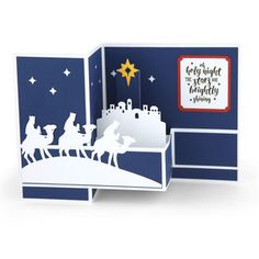 pop up box card christmas wisemen  by Lori Whitlock  Design ID #151526  Published: 9/19/2016