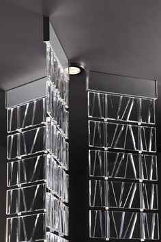 Tile: build with light Fabbian Lighting System, Lighting Design, Stair Detail, Contract Design, Partition Design, Light Decorations, Hanging Decorations, Hanging Light Fixtures, Screen Design