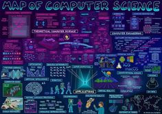 Map of Computer Science {Infographic}  #CyberSecurity #MachineLearning #BigData #AI #VR #AR #Robots #IoT #innovation #chatbots #Engineering #iiot #iot #deeplearning #artificialintelligence #algorithm #computing #computerscience #engineeringlife #learning