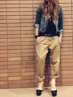 misa|SATURDAYS SURF NYCのTシャツ/カットソーを使ったコーディネート - WEAR Look Street Style, Tokyo Street Style, Casual Street Style, Work Casual, Classic Outfits, Casual Outfits, Cute Outfits, Girl Fashion, Fashion Outfits