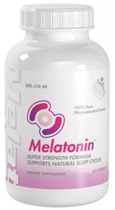 Melatonin Super Strength Supports Natural Sleep Cycles Melatonin 10mg 60 Capsules 1 Bottle