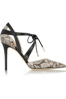 Jimmy Choo Lapris elaphe and leather pumps | NET-A-PORTER