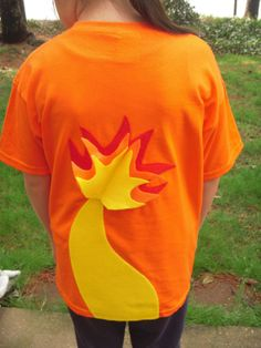 CHARMANDER with Flaming Tail  inspired Pokemon T-shirt for Kids - Japanese Cartoon