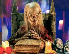 The Cryptkeeper. The host of Tales From The Crypt. He's funny, and he's so happy to tell creepy stories. I love his puns.