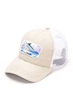 9318b39bb6bd8 Guy Harvey Men s Old Man   The Sea Trucker Hat - Khaki - One Size