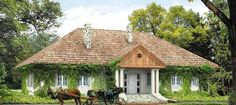 Tercja 2 - arch. Tomasz Sobieszuk - MTM Styl Sp. z o.o. Style At Home, Mansions Homes, Wonderful Picture, Home Fashion, Old World, Exterior Design, Outdoor Spaces, Gazebo, Outdoor Structures