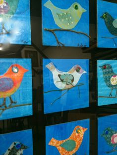 school auction class project ideas | Birds: Decoupage art project for school auction. ... | Classroom Ideas