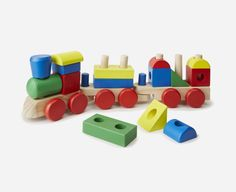 This colorful set offers more than just a choo choo ride | Toddler gifts via kidslovethisstuff.com