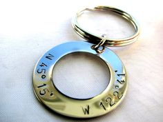 Personalized Hand Stamped Latitude and by charminginitials on Etsy, $17.00