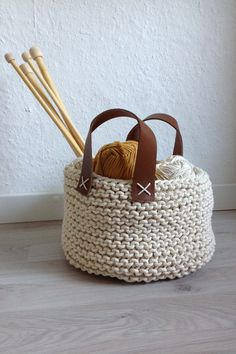 Items similar to Basket with handles on Etsy