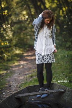 theblogbook | sewing | skirt with blouse and shrug, lillestoff, enemenemeins, fashion