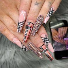 Image in Uñas bonitas collection by Summer Acrylic Nails, Best Acrylic Nails, Acrylic Nail Designs, Nail Art Designs, Pastel Nails, Nails Design, Nail Swag, Stylish Nails, Trendy Nails