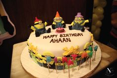 Minion Themed Birthday Cake