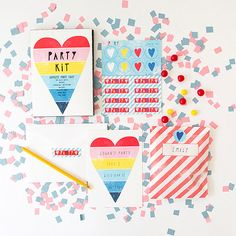 Party Kits by Yellow Owl Workshop