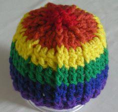 Gay Pride Rainbow newborn hat