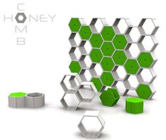 Adaptable Octagonal Furnishings : Honeycomb by Nyda DIY in natural wood or reclaimed wood fronts