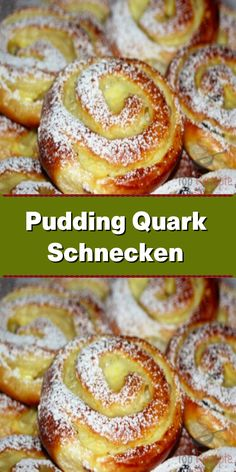Pudding-Quark-Schnecken - The Best French Recipes Easy Vanilla Cake Recipe, Chocolate Cake Recipe Easy, Chocolate Chip Recipes, Easy Homemade Desserts, Homemade Cake Recipes, Easy Recipes, Diet Recipes, Dessert Simple, Pain Perdu Simple