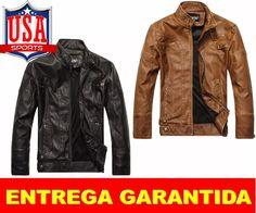 61ee70075ab Jaqueta De Couro Motoqueiro Casual Masculina Zara 1 Linha no Mercado Livre  Brasil