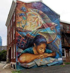 "Philadelphia mural art - ""Secret book""......#hiphop #beats updated daily =>…"