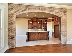 Brick arched opening