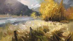 "Daily Paintworks - ""Autumn Gold"" - Original Fine Art for Sale - © Richard Robinson"