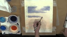 Frederick Brosen: Watercolor Demonstration, Painting Clouds