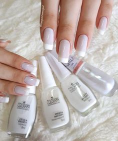Installation of acrylic or gel nails - My Nails Love Nails, Pretty Nails, My Nails, Wedding Nails Design, Wedding Designs, Manicure E Pedicure, Colorful Nail Designs, Elegant Nails, Perfect Nails