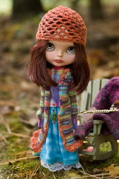 Autumn's Hippy Child. Long Knitted Sweater Tie by SugarMountainArt