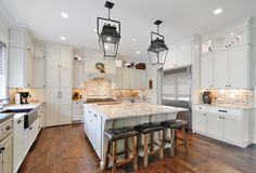 Brick Backsplash Kitchen Contemporary with and Dining Combo Mosaic Tiles