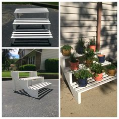 diy plant stand using stair stringers for the sides