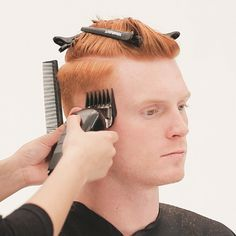 Men's Overdirected Clipper Cut from TONIandGUY - Behindthechair.com Simply Hairstyles, Young Mens Hairstyles, Boys Long Hairstyles, Haircuts For Men, Medium Hairstyles, Wedding Hairstyles, Latino Haircuts, Modern Haircuts, Funky Hairstyles