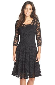 Chetta B 'Magic' Lace Fit & Flare Dress available at #Nordstrom