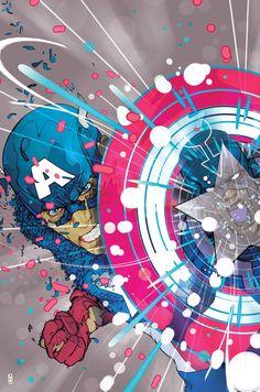 "league-of-extraordinarycomics: ""Captain America by CHRISTIAN WARD """