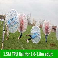 If you don't want to hurt, play bubble football :)