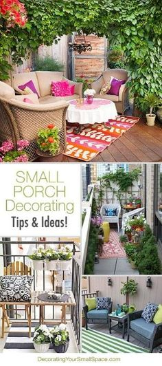 Small Porch Decorating Tips & Ideas! by lisa.w