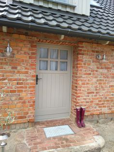 Shed Colours, Ral Colours, Grey Windows, Windows And Doors, Purbeck Stone, Backyard House, Edwardian House, External Doors, Cottage Exterior