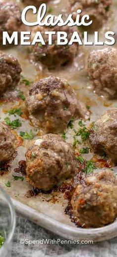 This is my all time favorite easy meatball recipe! They're easy to make and perf… This is my all time favorite easy meatball recipe! They're easy to make and perfect for spaghetti and meatballs, meatball subs or adding to soups or stews. Best Beef Recipes, Beef Recipes For Dinner, Ground Beef Recipes, Meat Recipes, Appetizer Recipes, Cooking Recipes, Appetizers, Appetizer Dessert, Meatloaf Recipes