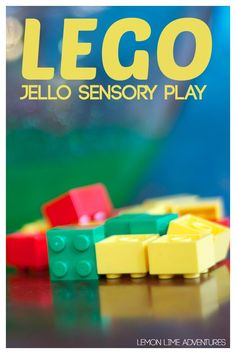 Lego play is pretty fun, but what about Lego sensory play with jello? Brings a whole new meaning to messy play! Sensory Boards, Sensory Table, Sensory Bins, Sensory Play, Sensory Therapy, Lego Activities, Activities For Boys, Infant Activities, Steam Activities