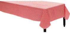 Picnic Red Gingham Flannel-Backed Vinyl Table Cover
