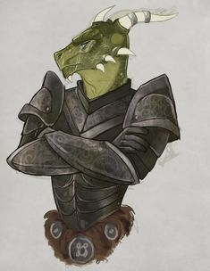 m Dragonborn Fighter Plate Armor portrait By the-orator on tumblr