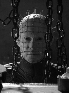 The infamous Pinhead of the Cenobites. Hellraiser - Creepy horror movie posters and all things horror Best Horror Movies, Iconic Movies, Scary Movies, Good Movies, Comedy Movies, Classic Movies, Scary Scary, Creepy Horror, Horror Icons