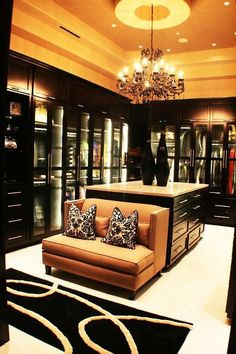 This main area of my closet would go along with my huge wall of shoes. I like the large amount of space and this room. This makes the closet clutter-free. With this closet, I guarantee that you will never run out of room for your clothes.